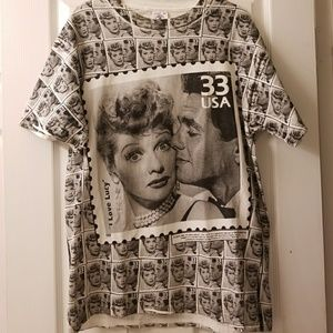 I love lucy postage stap T shirt